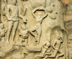 Арджуна-аскет, стоящий на одной ноге