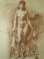 Женщина с драпировкой (А. Хохрякова)
