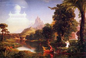 Плавание в жизнь — Юность (Томас Коул, 1842 г.)