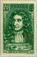 Марка с изображением Лафонтена