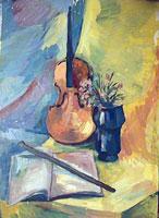 Натюрморт со скрипкой (Ольга Чичилина)