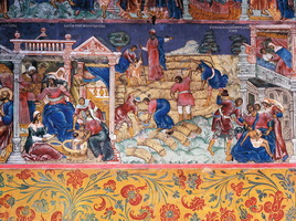 Сцена из жития пророка Елисея (храм Ильи пророка в Ярославле)