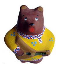Медведь (Дымковская игрушка)