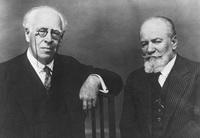 В. Немирович-Данченко (справа) и К.С. Станиславский