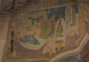 Снетогорский монастырь (фрагмент фрески)