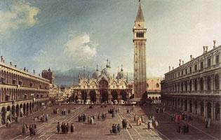 Площадь Сан-Марко с базиликой (А. Каналетто)
