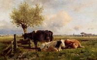 Отдыхающие коровы (А. Мауве)