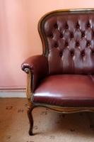 Русская мебель. 18 век. Крупная позолоченная резьба