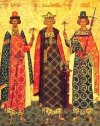 Икона с изображением св. Владимира, Бориса и Глеба
