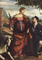 Св. Юстина с донатором (Моретто)