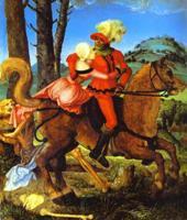 Рыцарь, девушка и Смерть. Ханс Грин Бальдунг