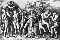 Вакханалия с винной бочкой (А. Мантенья, 15 в.)