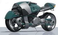 Концепт мотоцикла для кафе-рейсинга (Д. Кузвесов)