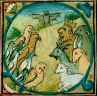 Иллюстрация к Басням Эзопа. Манускрипт 15 в., Франция