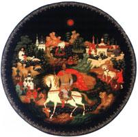 Всадник на белом коне (Б.М. Ермолаев, тарелка)