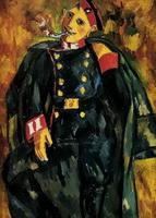 Курящий солдат (М.Ф. Ларионов, 1910 г.)