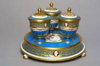 Подставка с тремя чашечками для конфитюра с крышками (1777 г.)