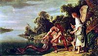 Художник Питер Ластман, картина - Ангел и Товий с рыбой