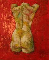 Торс на красном фоне (А. Фокин)