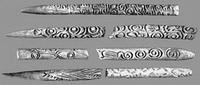 Орудия, украшенные рельефами (кость, неолит)