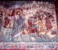 Изгнание торгующих из храма (М. Панселин, собор Протата)
