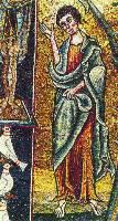 """Евангелист Иоанн"". Мозаика в церкви Сан-Клементе, Рим"
