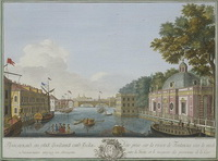 Вид на Фонтанку (М.И. Махаев, 1753 г.)