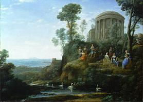 Аполлон и музы на горе Геликон (К. Жилле)