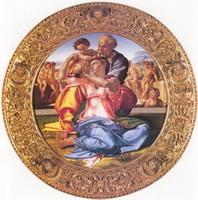 Святое семейство (Микеланджело, около 1505 г.)