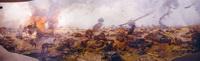 Фрагмент диорамы Курская битва (Н.С. Присекин, 1995 г.)