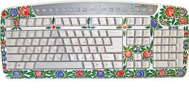Клавиатура (Городецкая роспись)