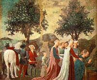 Прибытие царицы Савской к Соломону (П. Франческа, кватроченто)
