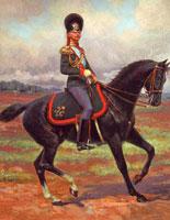 Конный гренадер в форме