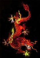 Дракон с жемчужиной (Сваровски)