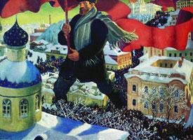 Большевик (Б.М. Кустодиев)