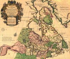 Картуш на карте Канады (1733 г.)