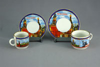 Пара кофейная, пара чайная (Виды Москвы)
