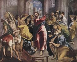 Изгнание торгующих из храма (Эль Греко, XVI век)