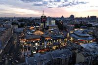 Центр Киева ночью