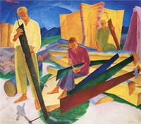 Правка пил (А.К. Богомазов, 1927 г.)