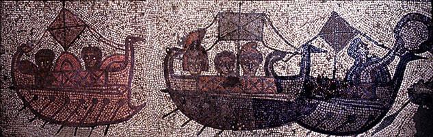 Прибытие кораблей Энея (Мозаика)