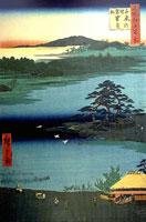 Сосна на пруду Сендзоку (Хиросигэ)
