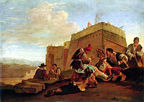 Пейзаж с ироками в морру (Питер ван Лаар)