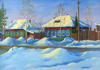 Цветовые рефлексы на снегу
