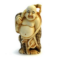 Нэцкэ, изображающее Хотэя (слоновая кость)