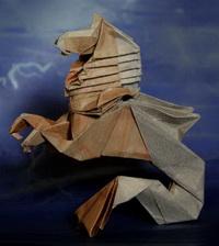 Гиппокамп (Р. Диаз, оригами)