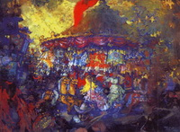 Карусель (Н.Н. Сапунов, темпера, 1908 г.)
