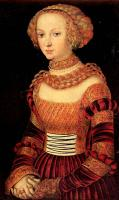 Женский костюм Германии периода Реформации. Лукас Кранах Старший.