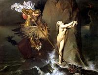 Роже, освобождающий Анжелику (Ж.О.Д. Энгр, 1819 г.)